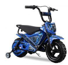 Moto électrique avec roues stabilisatrices kuyez 250W 24V Bleu