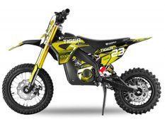 Moto électrique enfant Tigre 1100W Lithium 36V 12/10 jaune