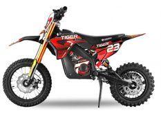 Moto électrique enfant Tigre 1100W Lithium 36V 12/10 rouge