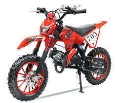 Moto enfant Super cross 49cc 10/10 rouge