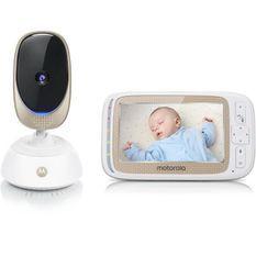 MOTOROLA BABY Comfort 85 connect 2 en 1 (wifi sur smartphone + ecran video 5) veilleuse,berceuses,sons de la nature