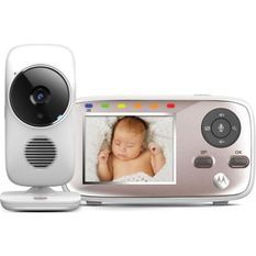 MOTOROLA BABY MBP667 connect 2 en 1 (wifi sur smartphone + ecran video 2,8) detecteur mouvements , température , talkie walkie
