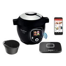 MOULINEX CE859800 Multicuiseur intelligent COOKEO + Connect avec Balance etMoule de cuisson inclus- 6L - 200 recettes - Noir