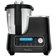 MOULINEX HF456810 Clickchef Robot Cuiseur Multifonction5 Programmes Automatiques Robot Cuisine Compact 25fonctionsBalance Cuisine