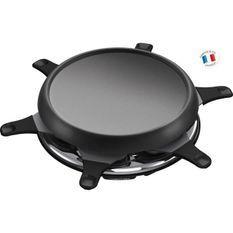 MOULINEX RE151812 Appareil a raclette multifonctions plancha et crepes 6 Personnes Noir