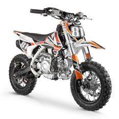Moto cross enfant 60cc automatique orange et blanc Super Racing