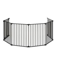 NIDALYS Barriere Pare Feu Multi fonctions Métal 70cm-370cm Noire