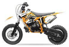 NRG50 49cc orange 12/10 Moto cross enfant moteur 9cv kick starter