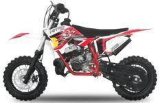NRG50 49cc rouge 10/10 Moto cross enfant moteur 9cv kick starter