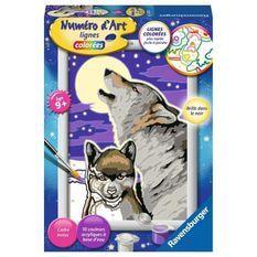 Numéro d'art - petit format - Cri du loup - Ravensburger - Kit complet de Peinture au numéro - Des 9 ans