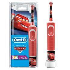 Oral-B Kids Brosse a Dents Électrique - Cars - adaptée a partir de 3ans, offre le nettoyage doux et efficace