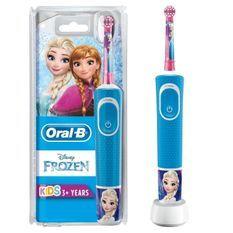Oral-B Kids Brosse a Dents Électrique - La Reine Des Neiges - adaptée a partir de 3ans, offre le nettoyage doux et efficace
