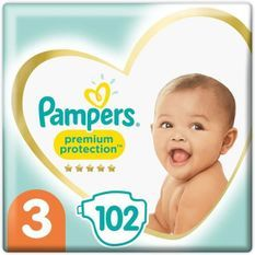 PAMPERS 102Couches Premium Protection Taille3