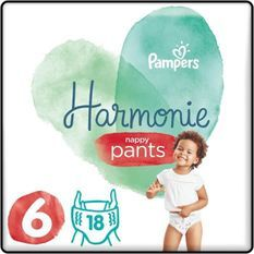 PAMPERS 18 Couches-Culottes Harmonie Nappy Pants Taille 6