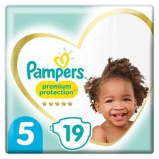 PAMPERS 19Couches Premium Protection Taille5