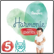 PAMPERS 20 Couches-Culottes Harmonie Nappy Pants Taille 5