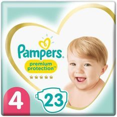 PAMPERS 23Couches Premium Protection Taille4