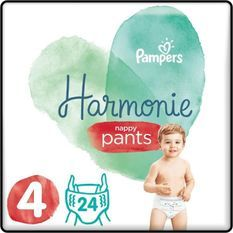 PAMPERS 24 Couches-Culottes Harmonie Nappy Pants Taille 4