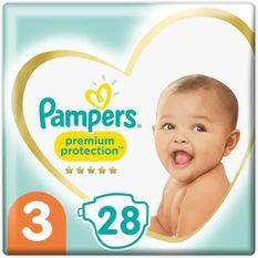 PAMPERS 28Couches Premium Protection Taille3