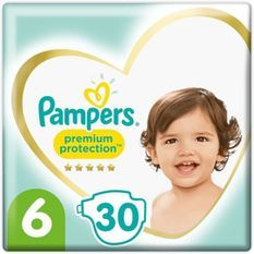 PAMPERS 30Couches Premium Protection Taille6