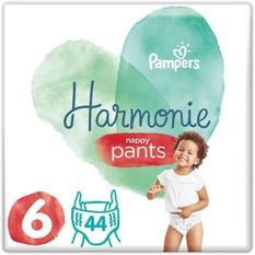 PAMPERS 44 Couches-Culottes Harmonie Nappy Pants Taille 6