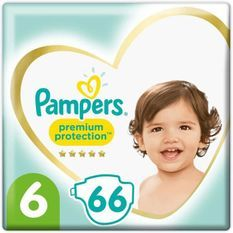 PAMPERS 66Couches Premium Protection Taille6