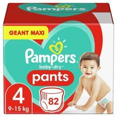 Pampers Baby-Dry Pants Couches-Culottes Taille4, 82Culottes