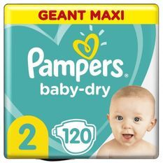 Pampers Baby-Dry Taille2, 120Couches