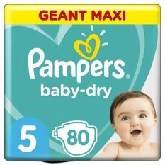 Pampers Baby-Dry Taille5, 80Couches