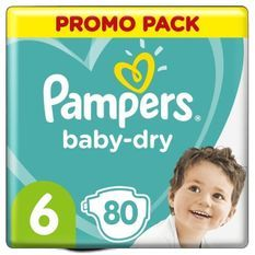 Pampers Baby-Dry Taille6, 80Couches
