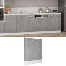Panneau de lave-vaisselle Gris béton 59,5x3x67 cm Aggloméré