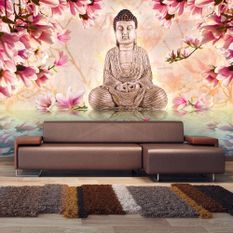 Papier peint Bouddha et magnolia