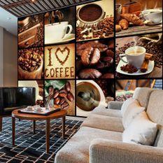 Papier peint Coffee Collage