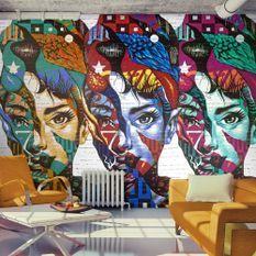 Papier peint Colorful Faces