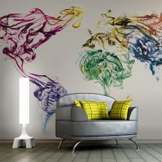 Papier peint Dancing smoke trails