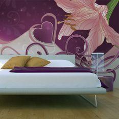 Papier peint Lily in violets