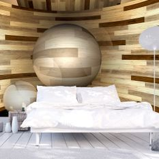 Papier peint Orbite de bois