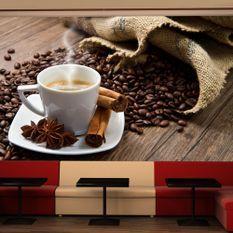 Papier peint Star anise coffee