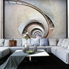 Papier peint White spiral stairs