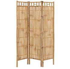 Paravent 3 parties bambou clair Nayra