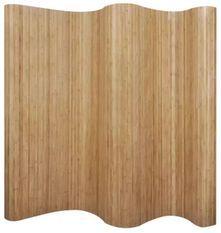 Paravent décoratif avec support non tissé bambou marron Kyca