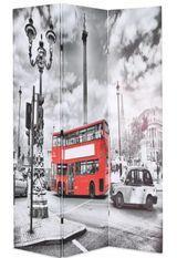 Paravent décoratif imprimé 3 volets bois et tissu K.london