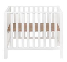 Parc bébé hêtre massif blanc Aliham 78x97 cm