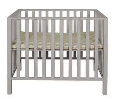 Parc bébé hêtre massif gris Manilla 78x97 cm