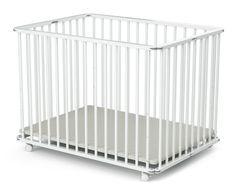 Parc bébé pliant et réglable 70x100 cm hêtre massif blanc Webaby