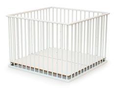 Parc bébé réglable 100x100 cm hêtre massif blanc Webaby