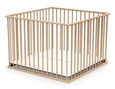 Parc bébé réglable 100x100 cm hêtre verni Webaby