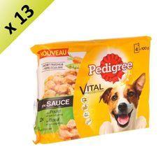 PEDIGREE Sachets fraîcheur en sauce 2 variétés - Pour chien - 4x 100 g (x13)