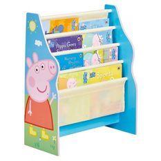 PEPPA PIG - Bibliotheque a pochettes pour enfants - Rangement de livres pour chambre d'enfant