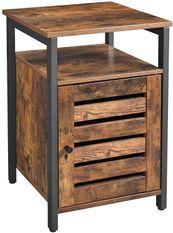 Petit meuble 1 porte marron vintage industriel Persienne L 50 x H 60 x P 30 cm